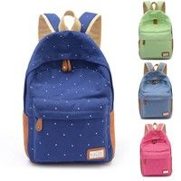 100% Brand New. Material: Canvas Style: Backpack Style 4 Colors for your   choice: Deep Blue, Rose
