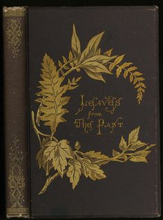 Leaves from the Past. 1872. (beautiful book cover)