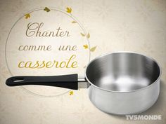 Chanter comme une casserole Literal translation: To sing like a saucepan Meaning: To be a lousy singer French Teacher, French Class, French Lessons, Teaching French, French Expressions, French Phrases, French Words, Study French, Learn French