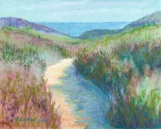 """Beach Path No. - Original Fine Art for Sale - © Rita Kirkman Watercolor Landscape, Landscape Art, Landscape Paintings, Landscapes, Chalk Pastels, Small Paintings, Drawing Skills, Pastel Art, Learn To Paint"