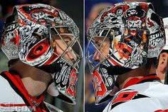 Top Ten Masks. 8. Cam Ward, Carolina Hurricanes  Ward's mask is a treasure for fans of pirates. And honestly... who isn't a fan of pirates?