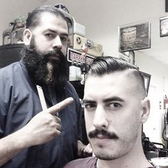 I'm letting my beard go crazy like this guy & am changing my name to Nicky The Barber