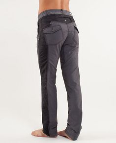 Lululemon ride on pant. Saw woman at club today wearing these after a workout.  They looked awesome on!