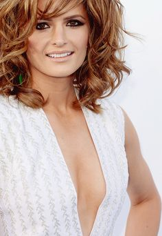 those eyes, that hair, the smile......ah, Stana.