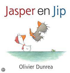Jasper en Jip - Olivier Dunrea - plaatsnr. K DUNR/005 #Vriendschap #Anderszijn #Peuters #Prentenboek