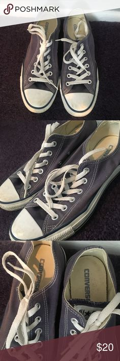 Navy Low Converse Size Women's 9 In good condition! The navy color is faded a bit but barely noticeable and still totally wearable. Amazing shoes!! Converse Shoes Sneakers