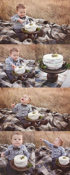 Fall baby cake smash | Nathalie Lopez Photography