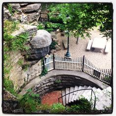 Eureka Springs, Arkansas.  This is such a beautiful town to walk through.  You can find these little pathways that lead to beautiful gardens...it is an amazing place!