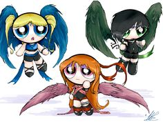 Alternate Powerpuff Girls by dragongirl.deviantart.com on @deviantART