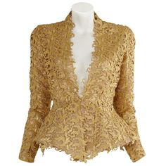 Lace Jacket ($15,195) ❤ liked on Polyvore