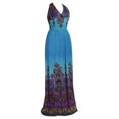 This stunning #summer #maxi #dress comes in bright colours and a beautiful fancy pattern, reminiscent of the style of the #1960\'s and #70\'s. - See more at: http://myeveningdress.co.uk/maxi-dresses/2017-vibrant-v-neck-summer-maxi-dress.html#sthash.79YzR4n2.dpuf