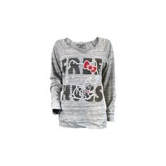 Ladies Hello Kitty Free Hugs Long Sleeve T Shirt by Mighty Fine ($55) ❤ liked on Polyvore