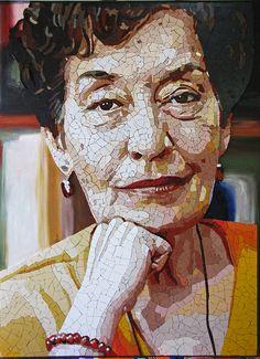 Maria da C Tavares #mosaic #portrait