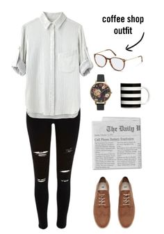 Looking for outfit inspiration for your next casual date or meetup? Tan oxfords and black distressed jeans pair perfectly with accessories with a little bit of personality, such as a floral watch and colorful tortoiseshell  Rodenstock glasses.