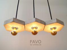 """Deckenlampen - Betonhängelampe """"FAVO fila3"""" - ein Designerstück von Uniikat-Shop…"""