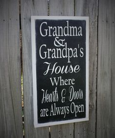 Grandparents Sign Mothers Day Gift Wood Sign by leapoffaithsigns