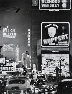 Times Square in 1942...well if time travel were possible...lol