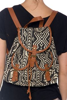 After Class Aztec Print Backpack Purse - Black from Jewelry & Accessories at Lucky 21 Lucky 21