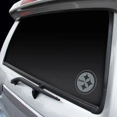 Pittsburgh Steelers Chrome Window Graphic Decal - Logo