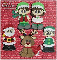 TOCG CHRISTMAS, premade paper piecing, scrapbook page, album, border, elves