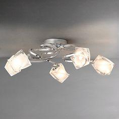John Lewis Blossom Flush Ceiling Light, 6 Arm