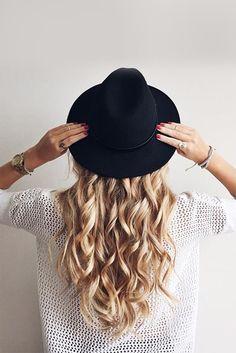 Hat + Long Curls =perfection!