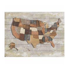 Wooden America Map | dotandbo.com