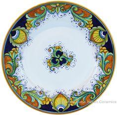 Deruta Italian Dinner Plate   #TuscanyAgriturismoGiratola
