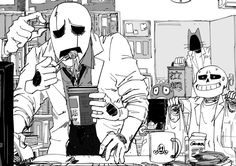Poor Gaster is stressing out!