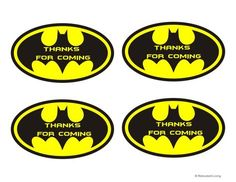 Batman party favor thank you printable