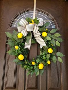Summer Lemon Wreaths for Front Door Wreaths with Lemons Spring Wreath Yellow Summer Wreaths Citrus W Spring Front Door Wreaths, Holiday Wreaths, Spring Wreaths, Lemon Wreath, Mothers Day Wreath, Outdoor Wreaths, Front Door Decor, Summer Wreath, Brighten Your Day