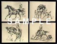 Vintage cowboy prints