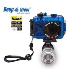 Pack photo plongée DeepView Nikon S3300 Noir + Caisson étanche 80m + Lampe