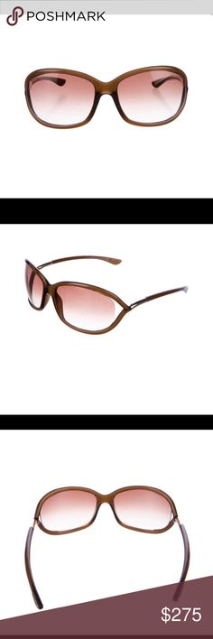 603794b1296 Authentic Tom Ford Sunglasses Authentic Brown acetate Tom Ford Jennifer  sunglasses with silver-tone accents
