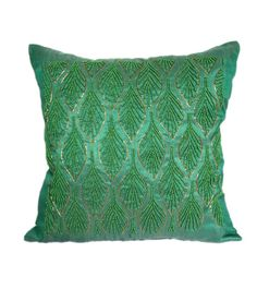 Mint Green Pillow Mint Green Decorative by TheWhitePetalsDecor