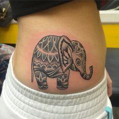 Cute Elephant Tattoo Design Idea