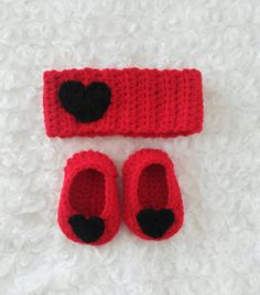 Valentines day heart headband and booties set❤