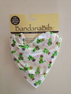 Froggies Bandana Big. For the dribbler or messy baby in your life.