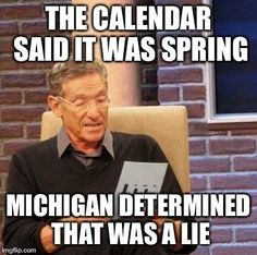 26 memes that perfectly describe Michigan spring