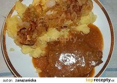 Vepřová krkovice s gulášovou šťávou recept - TopRecepty.cz Pudding, Desserts, Recipies, Tailgate Desserts, Deserts, Custard Pudding, Puddings, Postres, Dessert