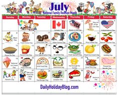 travelling scrapbook Ideas Maps is part of Travel Scrapbook Layout Ideas Better Homes Gardens - july holiday calendar 2015 Wacky Holidays, Weird Holidays, July Holidays, Unusual Holidays, July Calendar, Calendar Journal, Holiday Calender, Calendar Ideas, National Days