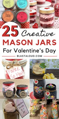 Valentine's day mason jar gifts are unique, fun and creative gift ideas you can give your loved ones without breaking the bank. Put a personalized touch on your Valentines day gifts this year by making these inexpensive gifts in a jar! Valentine Desserts, Valentines Day Food, Valentines Recipes, Diy Valentine's Mason Jar, Mason Jar Gifts, Sugar Cookie Cups, Lemon Sugar Cookies, Valentine's Day Quotes, Yule Log Cake
