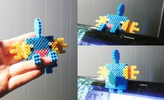 Perler Mudkip by on DeviantArt Hama Beads 3d, Pokemon Sprites, Mudkip, 3d Pattern, 3d Character, Submissive, Beading Patterns, Crochet Necklace, Unique Jewelry