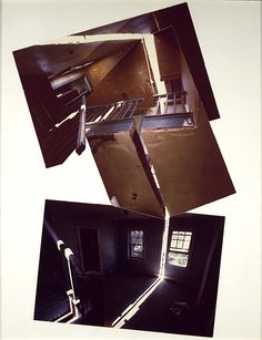 Splitting, 1974  Gordon Matta-Clark (American, 1943–1978)  Chromogenic prints mounted on board