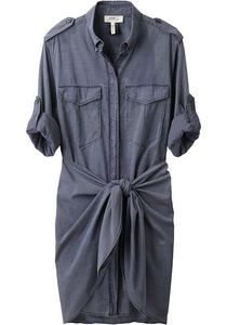 isabel marant chambray shirt dress