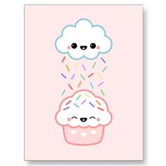 Cute Cupcake With Sprinkles Post Cards