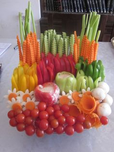 Chani's Delectables: Vegetable platters
