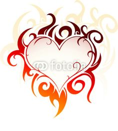 Heart Shapes | Heart-shape tattoo by Aleksej Kostin, Royalty free vectors #9779582 on ...