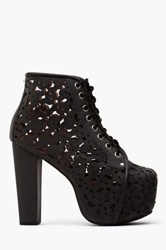 Lita Daisy Platform Boot (Nastygal.com)... I want the Lita style in every color/material/design they have... these are great for summer nights on the town