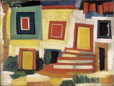 Art Inconnu - Little-known and under-appreciated art. Museum Of Contemporary Art, Modern Art, Collages, Images D'art, Modernisme, Ouvrages D'art, House Landscape, Portraits, Art Database